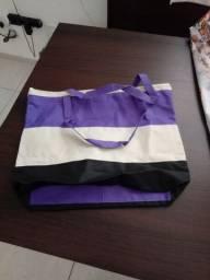 Bolsa moda praia praia tecido de lona reforçado 15 reais, 40x40cm
