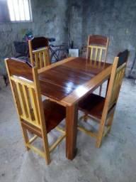 Grande promoção de mesa de 4 e 6 cadeiras com frete grátis