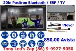 """Multimídia 2Din Positron Bluetooth / ESP / TV """"Novo"""""""