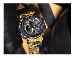 Relógio Masculino Oversize Shock Camuflado