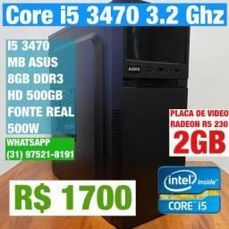 Computador Core i5 3470 3.2ghz + 8gb ddr 3 +hd 5oogb + fonte real 500w + placa de video