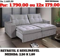 Promoção em Marigna - Sofa Retratil e Reclinavel 2,50 - Direto da Fabrica
