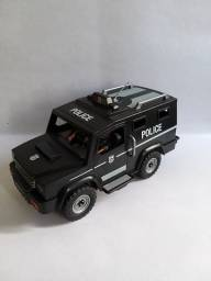 COMBO Playmobil Furgão da polícia + Helicóptero da polícia