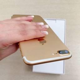 iPhone 7 Plus 32g Dourado. Lacrado sem reparo. Excelente.