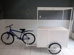 Food bike completo/ baú e bike NOVOS!