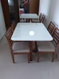 Mesa de jantar rissim de 4 assentos de madeira maciça