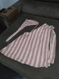 Conjunto pantalona rose e off white