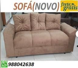 Compre e Receba No Mesmo Dia!!Sofa 3 Lugares Com Almofadas Apenas 499,00