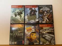 6 jogos originais para PS2 por 300 reais