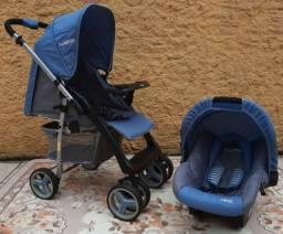 Carrinho + bebê conforto kiddo zap