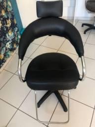 Cadeira de cabeleireiro Preta