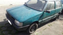 Fiat Uno Verde 1991 Motor 1.0 a Gasolina Com Debitos Aceito Troca