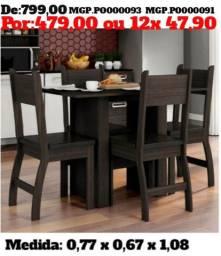 Promoção de Maringa - Conjunto de Mesa 4 Cadeira - Top de Linha