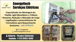 Eletricista Instalação elétrica Manutenções Elétricas Instalação de relógio padrão light