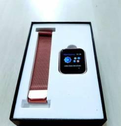 Smart Whatch P70 com 2 pulseiras, silicone + metal novo