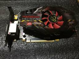Placa Video Xfx Ati Radeon Hd 5770 1gb Gddr5 128-bit Pci-e<br><br>