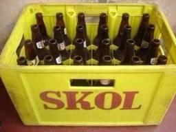 Caixas de cerveja com vasilhames