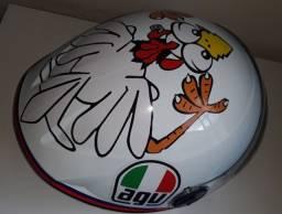 Capacete AGV Chicken (Galinha) - Réplica Adesivado