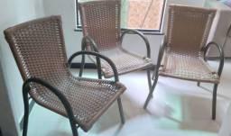 Conjunto  com 3 cadeiras lindíssimas