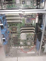 2 Servidor  HP - placa mae, cooler, conexao e fonte
