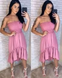 Vestido rosa sem alça 80$ (sem entrega)