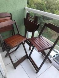 Mesa bistrô 3 cadeiras
