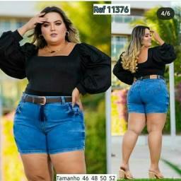 Shorts Plus size com valor de 125,00 com frete incluso