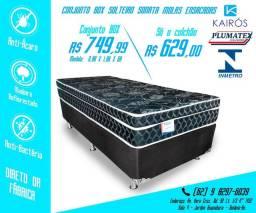 Conj Plumatex Solteiro Sonata Black 26cm até 10x Sem Juros nos cartões