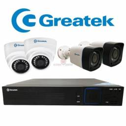 Dvr Stand Alone Greatek 4 Canais Para Sistema de Segurança com Camera
