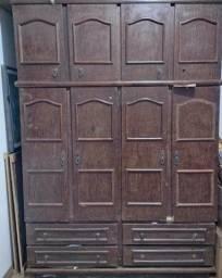 Guarda roupa sucupira 8 portas/ 4 gavetas