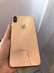iPhone XS MAX, vidro de trás quebrado