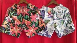 Shorts moda praia disponíveis 3 unidades por 90,00 - apenas retirada na loja fisica