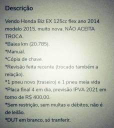 Moto Honda Biz 125 EX 2014/2015