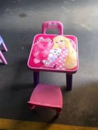 Mesinha Com 2 Cadeiras Barbie Fun Bb6000