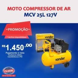Motor compressor de Ar Mcv 25 25 Litros 127V ? Vonder ? Entrega grátis
