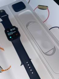 Apple Watch Serie 6 44mm Gps Azul Naval na garantia Apple, com caixa. Aceito Cartão.