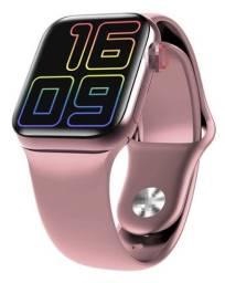 Relógio Smartwatch Hw12 Rose Tela Touch Pulseira Silicone Bluetooth Ligação Novo na Caixa