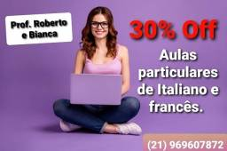 Aulas (particulares) de Italiano e francês.