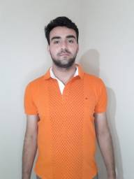 Camisa Polo Laranja Aramis Original Usada