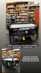 Gerador de energia 2,0 kva à gasolina monofásico partida manual - TG2500CXH 220V