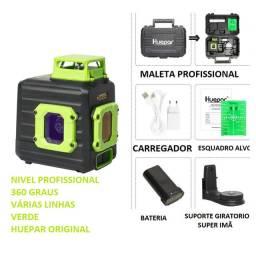 Nivel Laser Ultra Verde 360° Huepar ultra potente com nível e plumo várias linhas