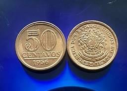 2 mordas de 50 centavos de 1956