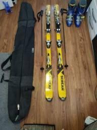 Par ski e bota Solomon