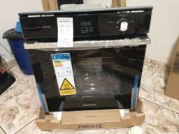 Forno de embutir a gás Brastemp 78 litros Preto com grill e timer touch - BOA84AE 220V