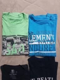 10 camisetas tamanho P