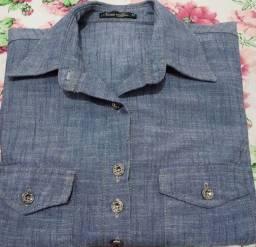 Camisa jeans tamanho M
