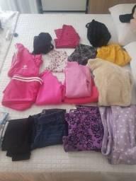 Título do anúncio: Lote de roupas de menina tamanho 10 anos