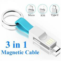 Adaptador USB Tipo C/IOS Magnético Portátil 3em1