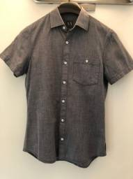 Camisa Armani Exchange na cor cinza