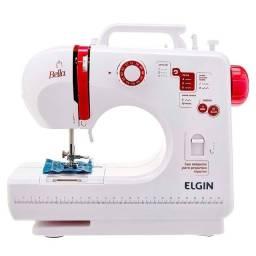 Máquina de Costura Elgin Portátil Bella 6 Pontos Caseador, Automático, Branca, Bivolt